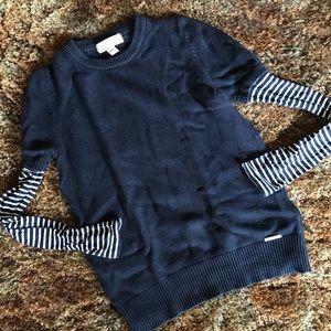 Michael Kors Crewneck Striped Sweater